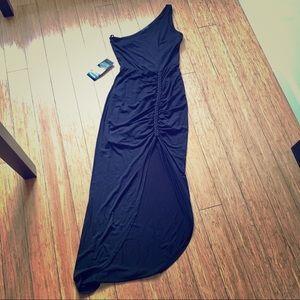 NWT Bebe One Shoulder Black Dress